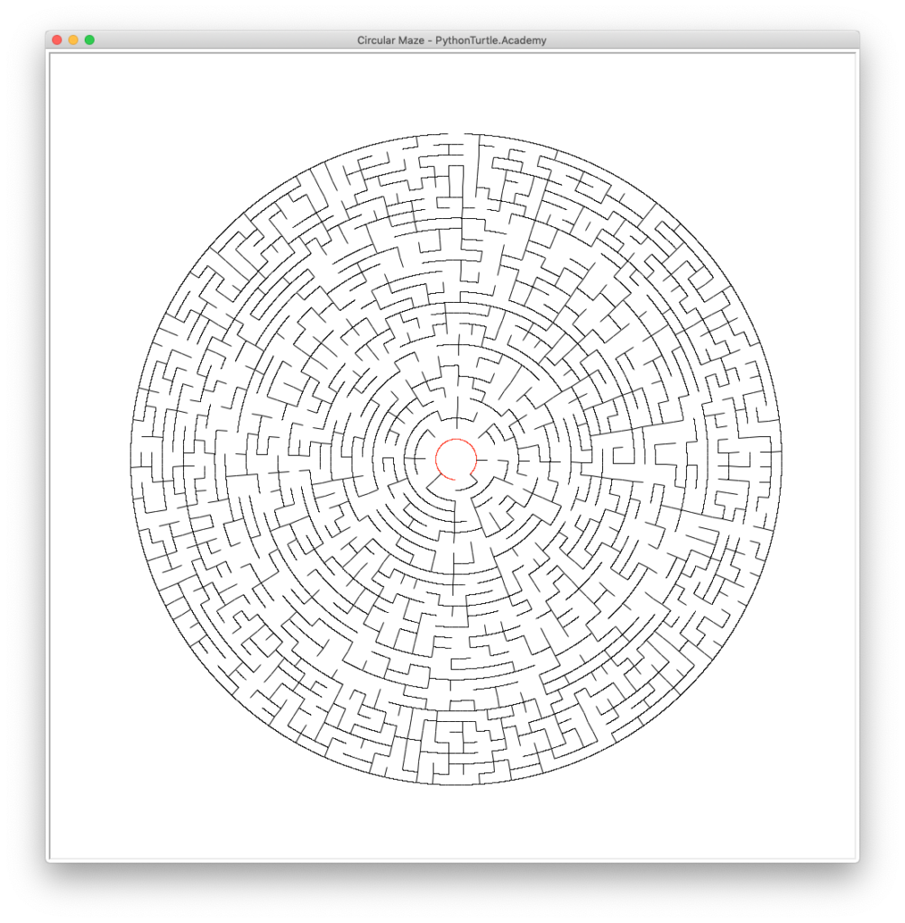 Circular Maze with Python Turtle – Learn Programming with Python and