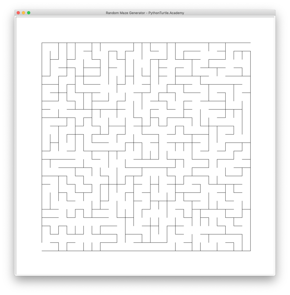 Random Maze Generator with Python Turtle – Learn Programming with