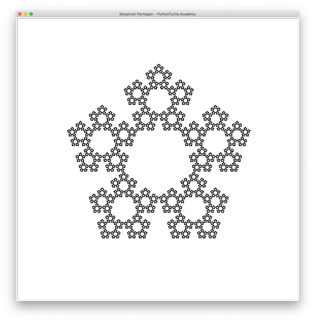 Sierpinski Pentagon with Python Turtle – Learn Programming