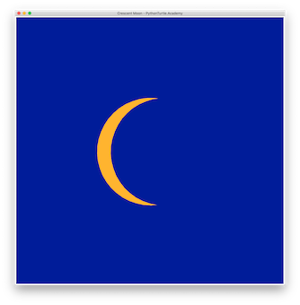 Tutorial: Drawing Crescent Moon with Python Turtle – Learn