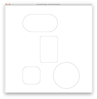 Tutorial: Rounded Rectangle or Square with Python Turtle – Learn